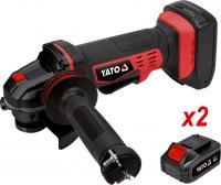 Leņķa slīpmašīna YATO 18V + 2 akumulatori YT-82828