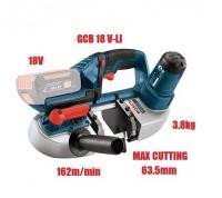 BOSCH GCB 18V-63 SOLO - Kartonā / Akumulatora lente slīpmašīna bosch 18V / 06012A0400 / lentes zāģis 18V / Bezvada lentes zāģis 18 V-63.
