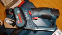 BOSCH GHO 12V-20 (2x3.0Ah) + L-Boxx, JAUNUMS / Akumulatora Ēvele Bosch 10.8V / 06015A7001 / Bosch Akumulatora rokas ēvele 12V.