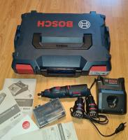 BOSCH GRO 12V-35 (2x2.0Ah) + L-Boxx Koferis + Uzlādes ierīce AL1230 CV / 06019C5001 / Bosch Rotācijas GRO 10.8V-35  Akumulatora Taisnā slīpmašīna 10.8V / 12V.