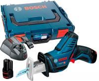 Bosch GSA 12V-14 Li / 060164L976 / BOSCH GSA 10.8 Li (2x3.0Ah) + L-Boxx koferis / Akumulatora zobenzāģis.