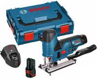 BOSCH GST 12V-70 / GST 10.8 V-Li (2x3.0Ah) + L-Boxx Koferis / Bosch 06015A1005 / Akumulatora figūrzāģis GST 10.8 V