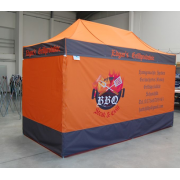 Izvelkama tērauda telts/nojume 4 x 2 m Nr.3/13