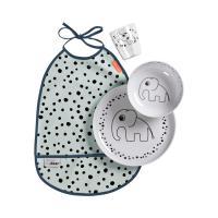 Trauku komplekts Yummy Happy dots zils Done by Deer