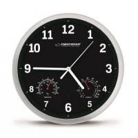 Esperanza EHC016K Sienas pulkstenis ar termometru un gaisa mitruma mērītāju. 25cm