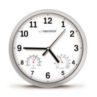 Esperanza EHC016W Sienas pulkstenis ar termometru un gaisa mitruma mērītāju. 25cm