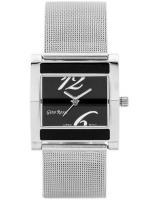 Gino Rossi Sieviešu rokas pulkstenis MIRIAM 6713B-3C1 (ZG542C) + BOX sudraba/melna