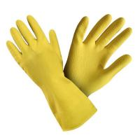 Gumijas cimdi  ar izmēru L (9) dzeltenā krāsā (400-01576)