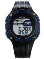 PERFECT Bērnu rokas pulkstenis 8581 (ZP280C) melna/zila