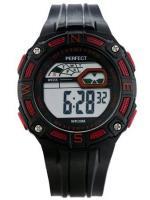 PERFECT Bērnu rokas pulkstenis 8581 (ZP280D) melna/sarkana