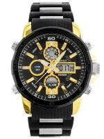 PERFECT Vīriešu rokas pulkstenis A8027 (ZP296C) zelta/melna