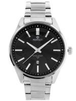 PERFECT Vīriešu rokas pulkstenis M117 (ZP299B) melna/sudraba