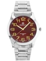 PERFECT Vīriešu rokas pulkstenis P012 (ZP304E) sarkana/sudraba