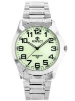 PERFECT Vīriešu rokas pulkstenis P012 (ZP304G) fluorescējoša/sudraba