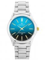 PERFECT Vīriešu rokas pulkstenis P424 - TONICA (ZP283E) tirkīza/sudraba