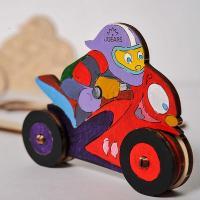 Ugears Motociklists 3D krāsaina modele (10006)