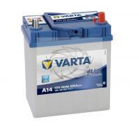 VARTA BLUE DYNAMIC A14 40Ah 330A R+ 187mm x 127mm x 227mm Automašīnas akumulators