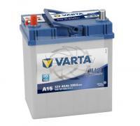 VARTA BLUE DYNAMIC A15 40Ah 330A L+ 187mm x 127mm x 207mm Automašīnas akumulators