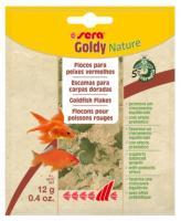 SERA Goldy Nature, 12g - barība zelta zivtiņām - pārslas