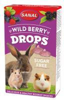 Sanal Wild Berry Drops Sugar Free, 45g - meža ogu gardumi, bez cukura